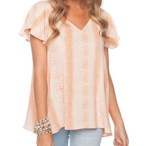 Buddy Love Avril Snake Print top, Size Small